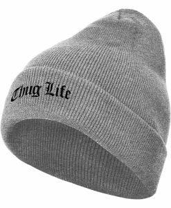 Caciula Beanie Thug Life Old English gri - Caciuli beanie - Flexfit>Caciuli beanie