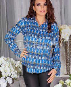 Camasa Anemona Cu Imprimeuri Albastra - Haine - Bluze/Camasi