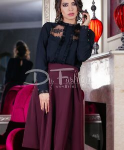 Camasa Black Lace Inserts - Haine - Bluze/Camasi