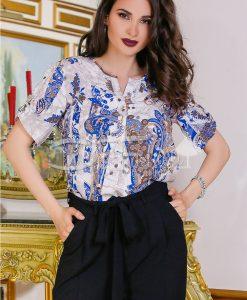 Camasa Dyana Cu Imprimeuri Mov - Haine - Bluze/Camasi