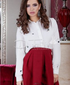 Camasa White Brenda - Haine - Bluze/Camasi