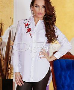 Camasa White Flowers Trend - Haine - Bluze/Camasi
