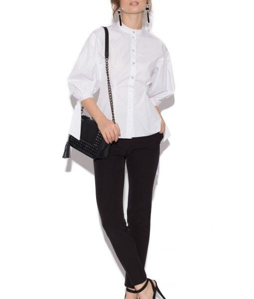 Camasa alba din bumbac cu funde Alb – Imbracaminte – Imbracaminte / Camasi