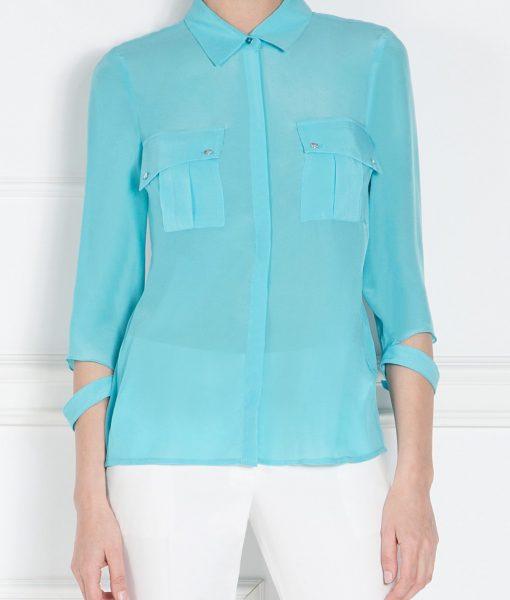 Camasa albastra cu buzunare mari Albastru – Imbracaminte – Imbracaminte / Camasi