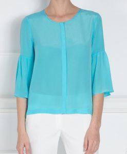 Camasa albastra cu maneci evazate Albastru - Imbracaminte - Imbracaminte / Camasi