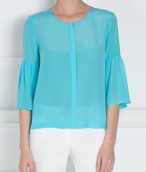 Camasa albastra cu maneci evazate Albastru – Imbracaminte – Imbracaminte / Camasi