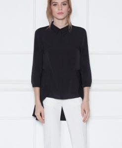 Camasa asimetrica cu dantela Negru - Imbracaminte - Imbracaminte / Camasi