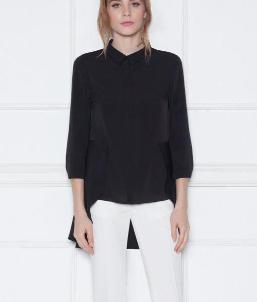 Camasa asimetrica cu dantela Negru – Imbracaminte – Imbracaminte / Camasi