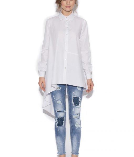 Camasa asimetrica din bumbac Alb – Imbracaminte – Imbracaminte / Camasi