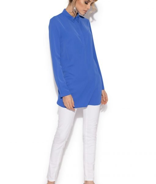 Camasa casual cu maneci lungi Albastru electric – Imbracaminte – Imbracaminte / Camasi