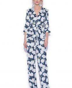 Camasa cu imprimeu floral Imprimeu Albastru - Imbracaminte - Imbracaminte / Camasi