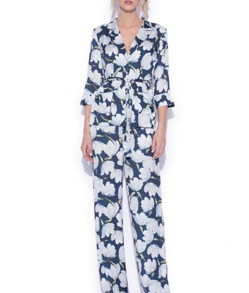 Camasa cu imprimeu floral Imprimeu Albastru – Imbracaminte – Imbracaminte / Camasi