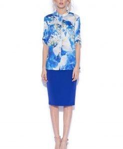 Camasa cu print floral albastru Imprimeu - Imbracaminte - Imbracaminte / Camasi