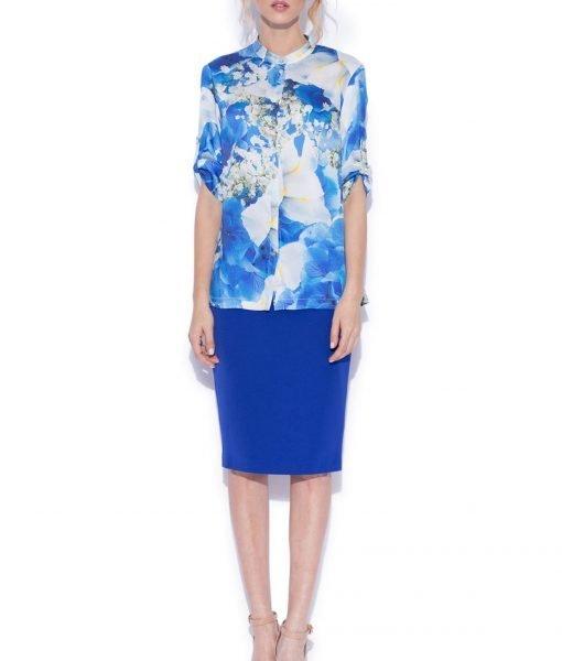 Camasa cu print floral albastru Imprimeu – Imbracaminte – Imbracaminte / Camasi