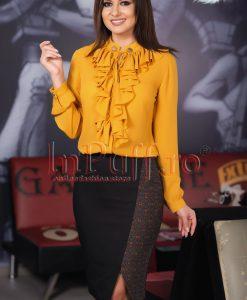 Camasa dama galben mustar cu jabou - CAMASI -