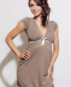 Camasa de noapte Iness - cappuccino - Lenjerie pentru femei - Neglijeuri de lux