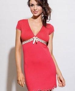 Camasa de noapte Iness - corai - Lenjerie pentru femei - Neglijeuri de lux