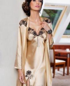 Camasa de noapte satinata Petra - Lenjerie pentru femei - Neglijeuri de lux