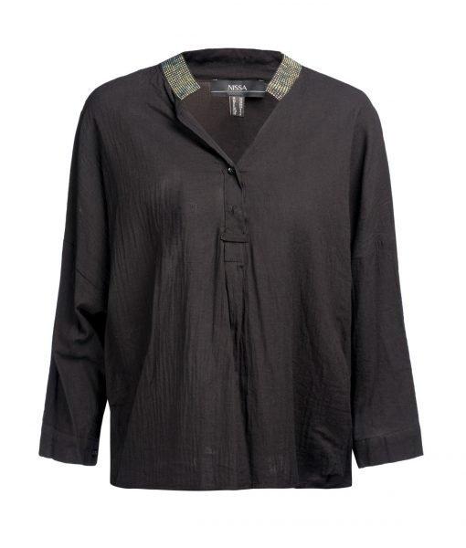 Camasa fina 100% bumbac Negru – Imbracaminte – Imbracaminte / Camasi