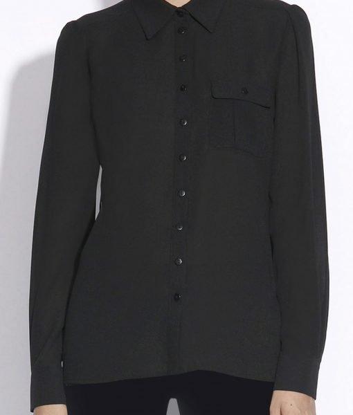Camasa neagra cu buzunar Negru – Imbracaminte – Imbracaminte / Camasi