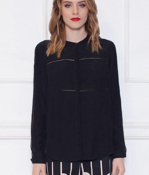 Camasa neagra cu maneci despicate Negru – Imbracaminte – Imbracaminte / Camasi