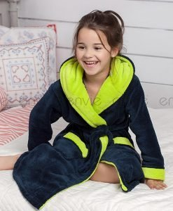 Capot copii Delfino albastru - Lenjerie pentru femei - Pijamale si capoate pentru copii