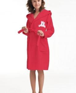 Capot copii Doggie - zmeuriu - Lenjerie pentru femei - Pijamale si capoate pentru copii