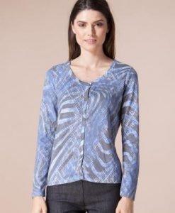 Cardigan albastru din tricot 4305 - Cardigane -