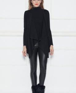 Cardigan asimetric Negru - Imbracaminte - Imbracaminte / Jachete si cardigane / Cardigane