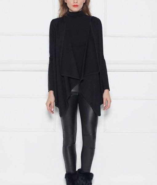 Cardigan asimetric Negru – Imbracaminte – Imbracaminte / Jachete si cardigane / Cardigane