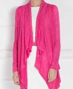 Cardigan asimteric tricotat Fuchsia - Imbracaminte - Imbracaminte / Jachete si cardigane / Cardigane