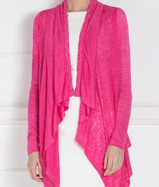 Cardigan asimteric tricotat Fuchsia – Imbracaminte – Imbracaminte / Jachete si cardigane / Cardigane