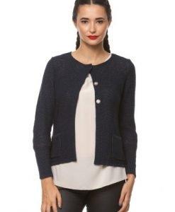 Cardigan din tricot cu fir argintiu 14560 bleumarin - Cardigane -