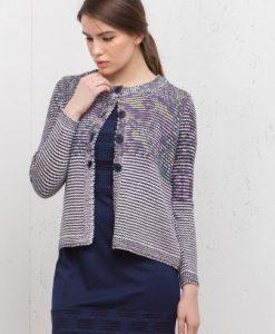 Cardigan din tricot cu imprimeu floral 15094 - Cardigane -