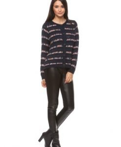 Cardigan in dungi din tricot 13507 bleumarin - Pulovere -