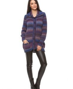Cardigan lung cu dungi 14419 multicolor - Cardigane -