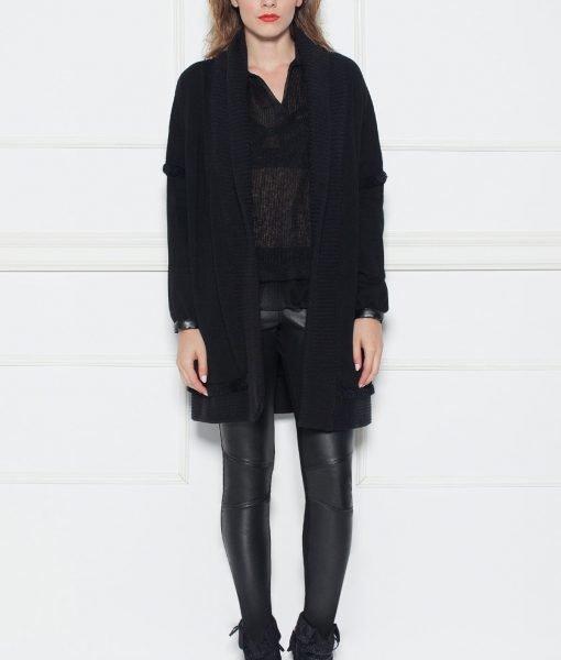 Cardigan negru tricotat Negru – Imbracaminte – Imbracaminte / Jachete si cardigane / Cardigane