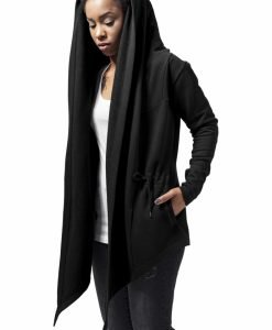 Cardigan sport asimetric pentru Femei negru Urban Classics - Pulovere si cardigane - Urban Classics>Femei>Pulovere si cardigane