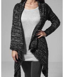 Cardigan tricot Feather pentru Femei negru-alb Urban Classics - Pulovere si cardigane - Urban Classics>Femei>Pulovere si cardigane