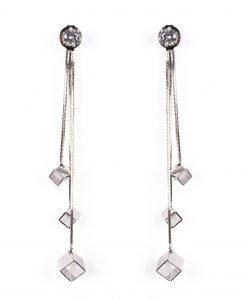 Cercei lungi eleganti Argintiu - Accesorii - Accesorii / Cercei