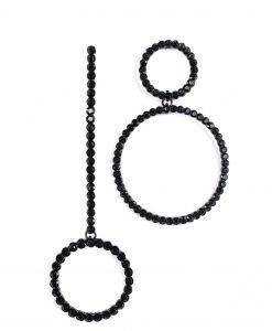 Cercei negrii cu pietre de sticla Negru - Accesorii - Accesorii / Cercei