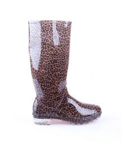 Cizme din cauciuc pentru femei Starshine leopard - Incaltaminte Dama - Cizme Dama