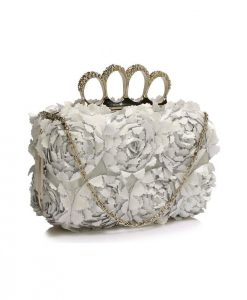 Clutch Argintiu Alia - Genti -