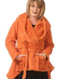 Cojocel cu doua fete si blanita ecologica Gloria C035 portocaliu - Jachete -
