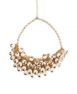 Colier cu perle stralucitoare Auriu/Alb - Accesorii - Accesorii / Coliere
