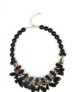 Colier elegant auriu cu negru Negru - Accesorii - Accesorii / Coliere