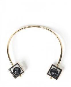 Colier elegant cu forme geometrice Auriu/Negru - Accesorii - Accesorii / Coliere