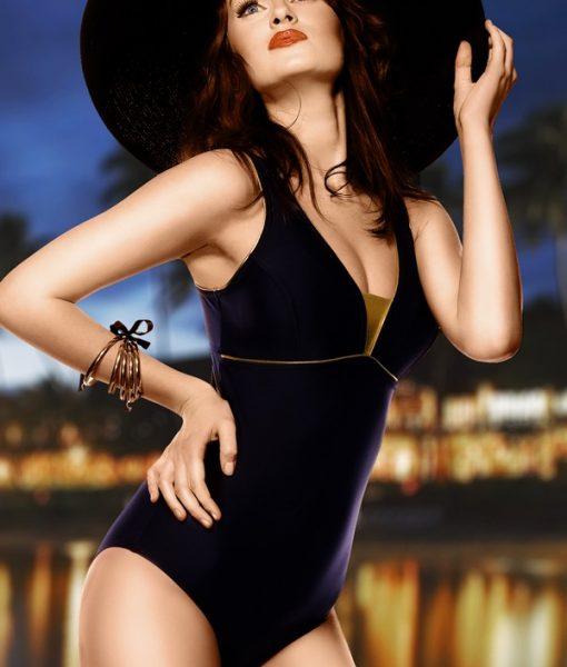 Costum de baie Anika – negru intreg – Costume de baie – Costum de baie intreg clasic