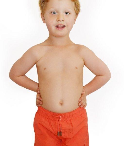 Costum de baie baietei Leonard Red – Costume de baie – Costume de baie pentru copii