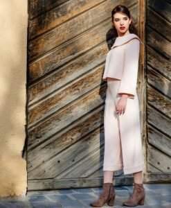 Deux pieces bluza si pantaloni DPURP roz pal - unicat - Compleuri -